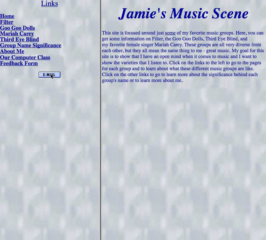 The first website I ever created as a student when I was just becoming a designer.