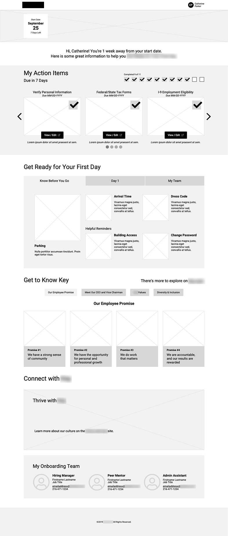 Wireframe: Pre-Hire
