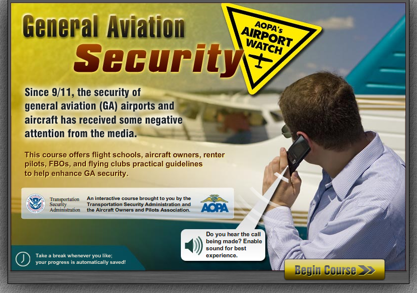 General Aviation Security - Course Home