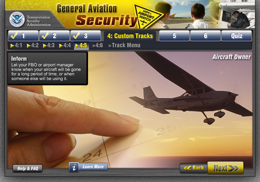 General Aviation Security - Course Track