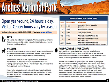 Arches National Park eBook - Information