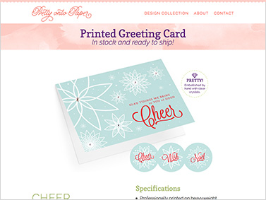Pretty onto Paper - Product detail page