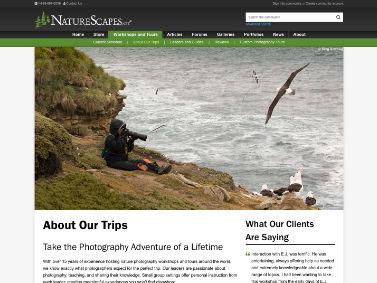 NatureScapes Workshops and Tours - About Our Trips