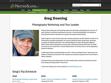 NatureScapes Workshops and Tours - Leaders Detail
